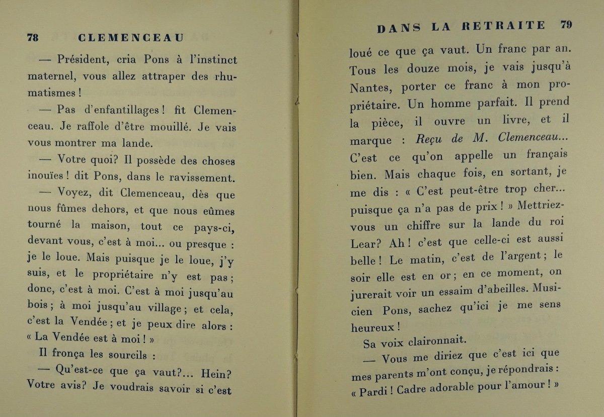 BENJAMIN - Clémenceau dans la retraite. La Palatine, 1930. Édition originale.-photo-7