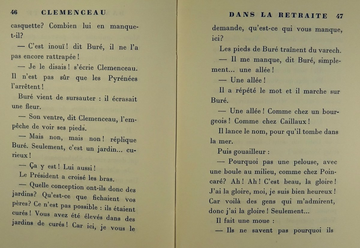 BENJAMIN - Clémenceau dans la retraite. La Palatine, 1930. Édition originale.-photo-8