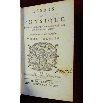 Ouvrage De Physique Du 17ème Siècle Imprimé En 1684