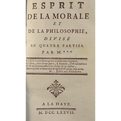 Philosophy Book Of A French Revolutionary, First Edition