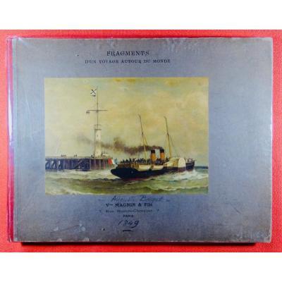 Borget - Album De Lithographies d'Un Voyage Autour Du Monde. Vers 1840.