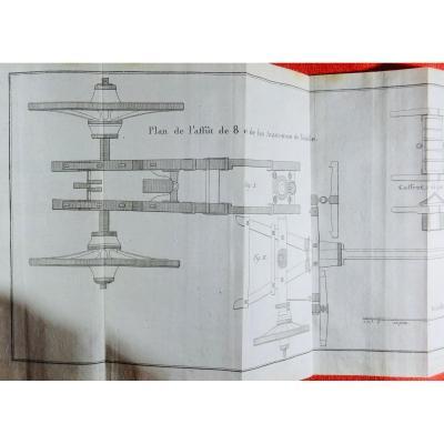 d'Urtubie - Gunner's Manual. 1787, 13 Folding Plates.
