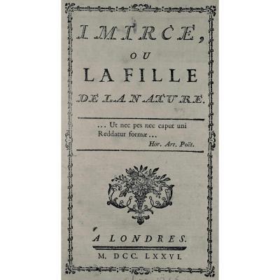 Laurens (henri-joseph) - Imircée Or The Daughter Of Nature. 1776.