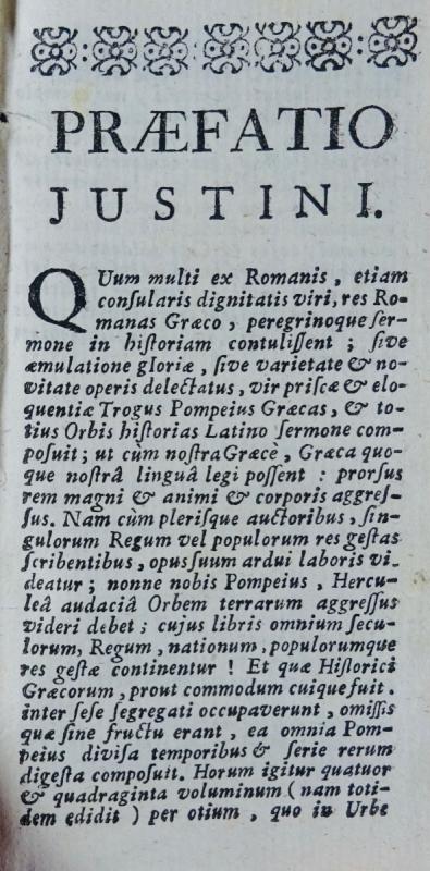 Justin - Historiarum Ex Trogo Pompeio. Imprimé à Rouen En 1758.-photo-2