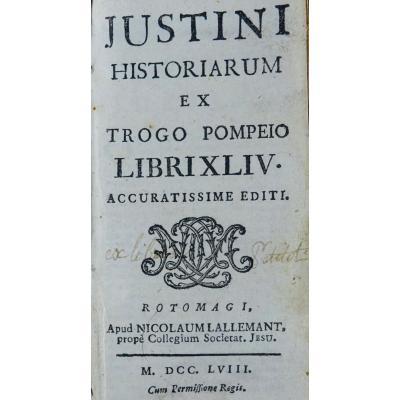 Justin - Historiarum Ex Trogo Pompeio. Printed In Rouen In 1758.