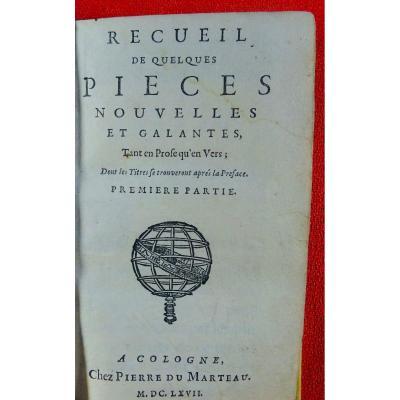 Recueil De Quelques Pièces Nouvelles Et Galantes. Chez Pierre Marteau, 1667.
