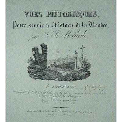 MÉliand - Vues Pittoresques  De La Vendée. 36 Lithographies. Reliure Signée Bonnemort.