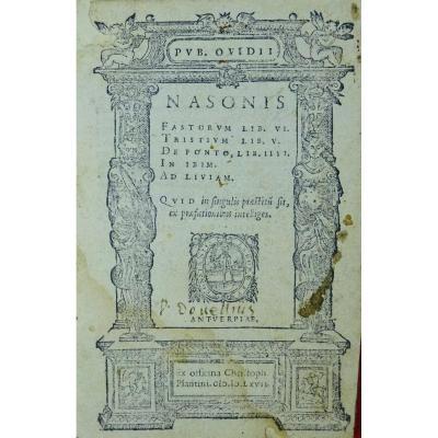 Ovide - Oeuvres En Latin Imprimées à Anvers Par Plantin En 1667.