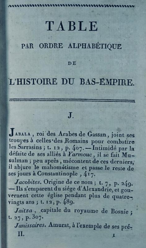 Ravier - Table Alphabétique De l'Histoire Du Bas-empire. 1817.-photo-3