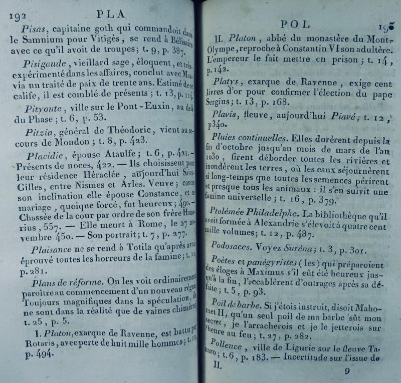 Ravier - Table Alphabétique De l'Histoire Du Bas-empire. 1817.-photo-4