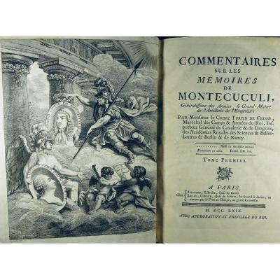 Turpin De CrissÉ - Comments On The Memoirs Of Montecuculi. On The Artillery, 1769.
