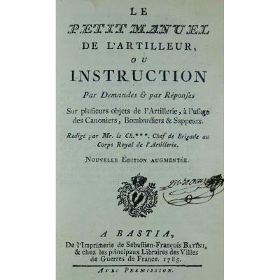 [urtubie De Rogicourt - The Little Gunner's Manual. 1785