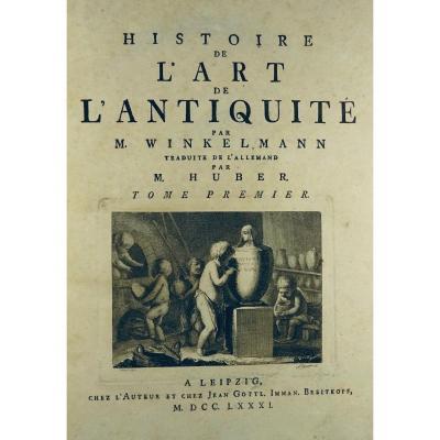 Winckelmann - Art History Of Antiquity. Printed In 1782, Period Binding.