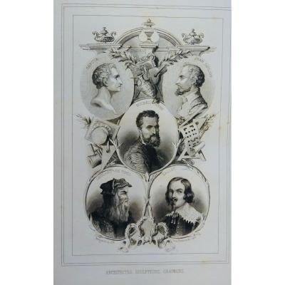 Fallet (céline) - Les Princes De l'Art. Rouen, Megard Et Cie, 1859. Cartonnage d'éditeur.