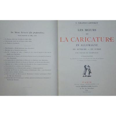 GRAND-CARTERET - Les Moeurs et la caricature en Allemagne-en Autriche-en Suisse. 1885.