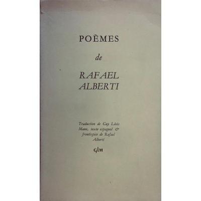 ALBERTI (Rafael) - Poèmes. Paris, G.L.M., 1952. Frontispice de l'auteur.