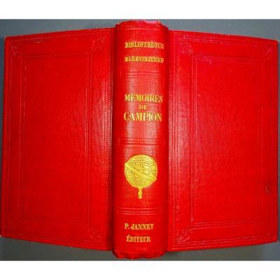 Anonyme - Mémoire De Henri De Campion. Jannet, 1857.