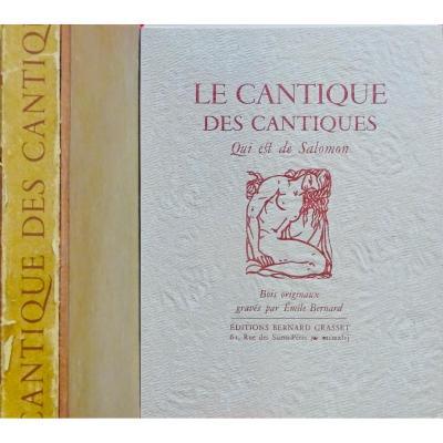 Bernard (Émile) - Le Cantique Des Cantiques. Bernard Grasset, 1946.