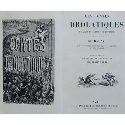 Balzac - Les Contes Drolatiques. Garnier, Vers 1860. Illustré Par Gustave Doré.