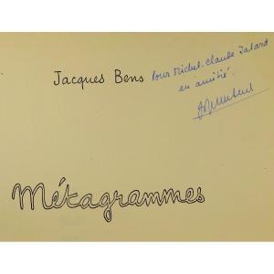 BENS (Jacques) - Métagrammes. Dedalus-bio, 1969. Un Des 25 Exemplaires, édition Originale.