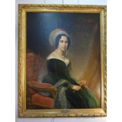 Christophe Thomas Degeorge (1786-1854) Femme à l'éventail