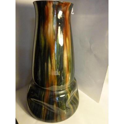 Vase En Céramique Clément Massier (1845-1917)