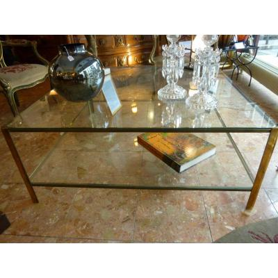 TABLE BASSE EN BRONZE JACQUES QUINET