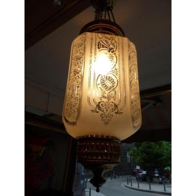 Lanterne Cristal Baccarat et Bronze Doré Napoleon III