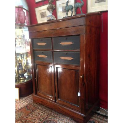 Cartonnier With Lectern In Rosewood 19th