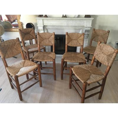 6 Charlotte Perriand Chairs