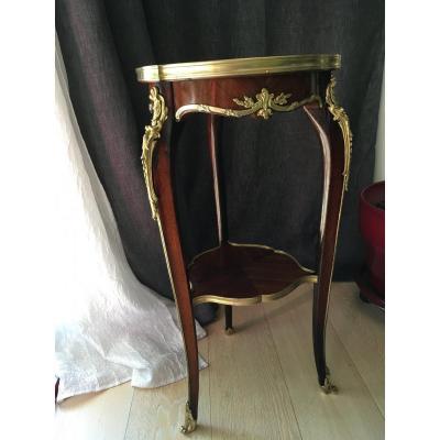 Sellette Style Louis XV Epoque Napoleon III en Acajou