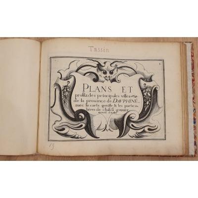 Tassin 1634 Gravures Plans Et Profilz Des Principales Villes De La Prouince De Dauphiné