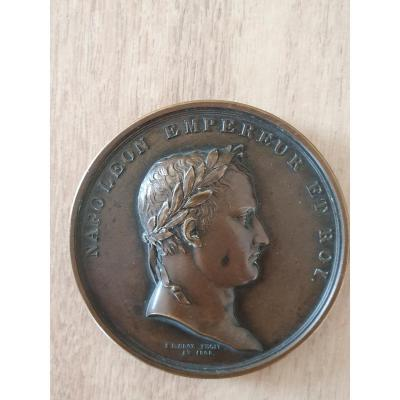 Bronze Medal Napoleon Emperor And King 1809