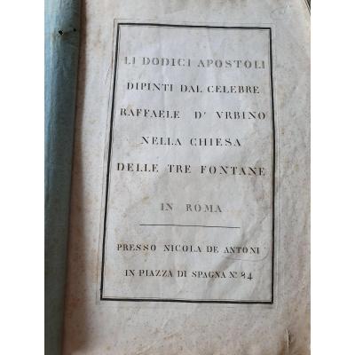 """"""" Exceptionnel """" 12 Gravures d après les planches de Raphael - 12 Apôtres - Raffaele d urbino"""