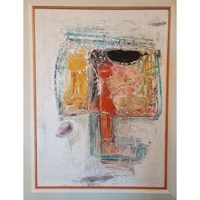 Galéa Martin Composition Acrylique 1992. 72 X 92 Cm