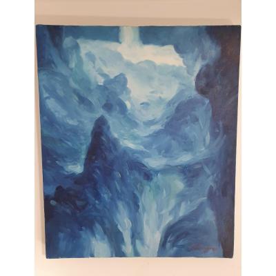 Valery Chiporev 55 X 45 Cm Huile Sur Toile Peintre Russe