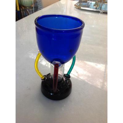 Vase Bleu Ettore Sottsass