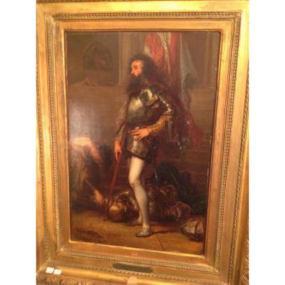 """Tableau """"l'assasinat Du Duc De Guise"""" de Robert Fleury"""