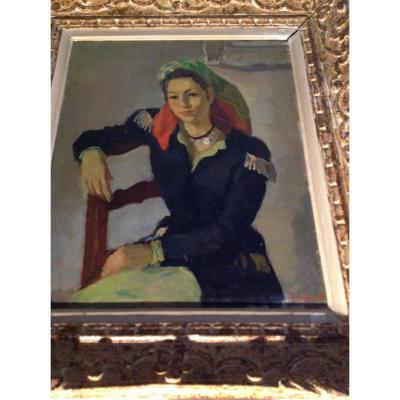 Portrait d'une Femme par Felix Bellenot