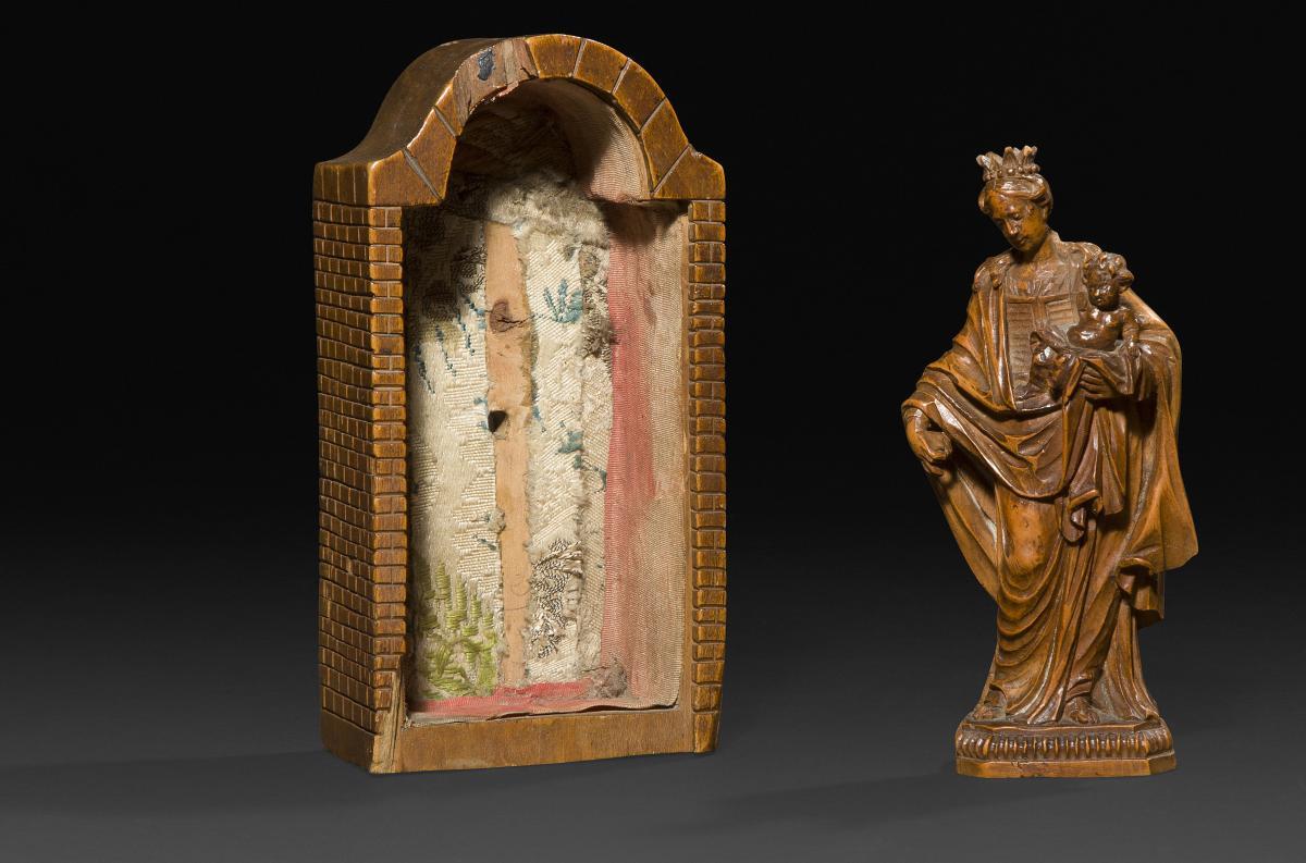 Reliquaire De Voyage XVI Représentant La Vierge