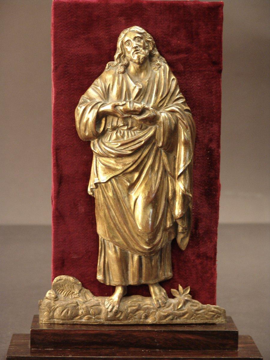 Jesus Rompant Le Pain, Bronze Doré XVIIe Italie