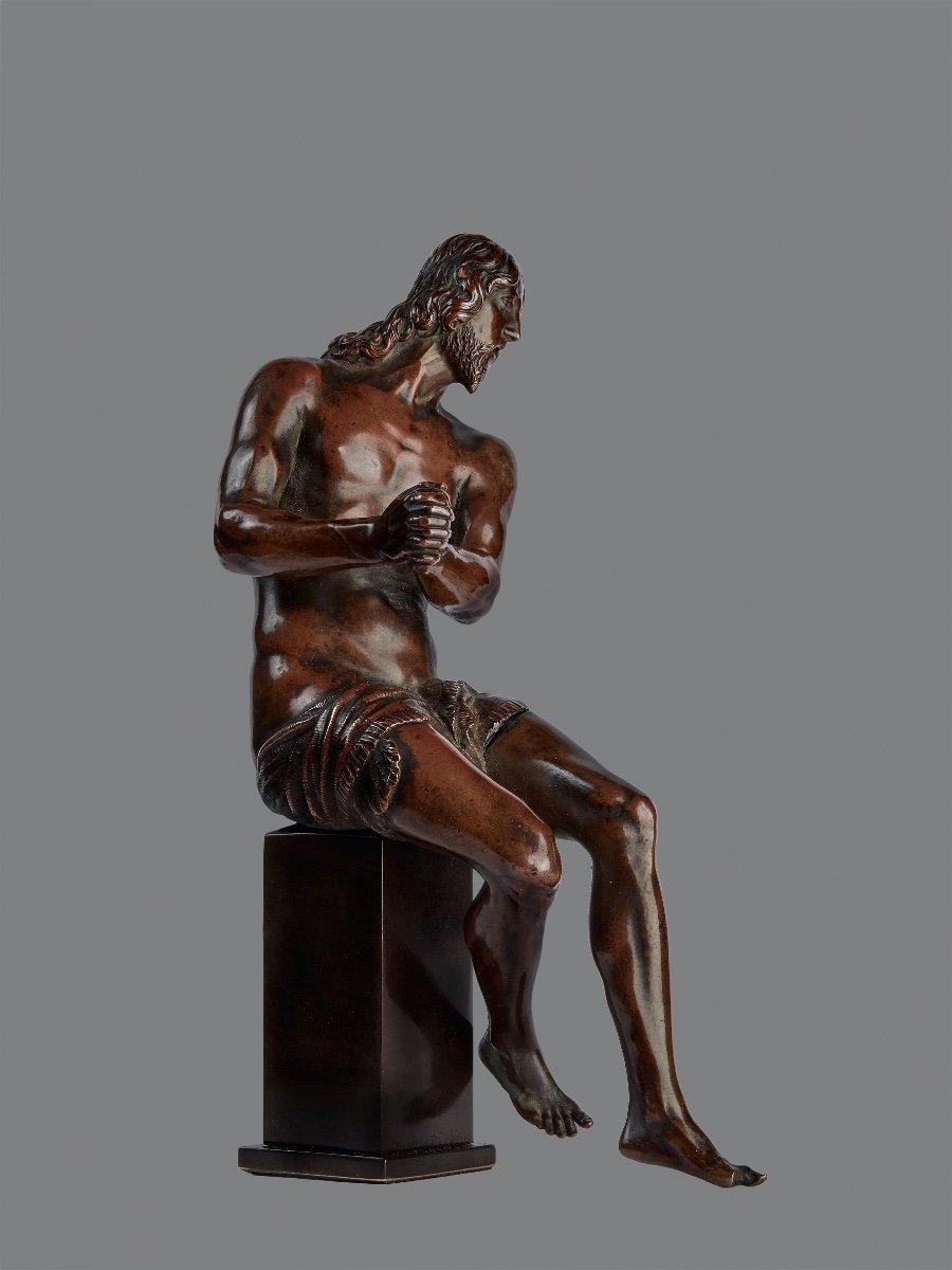 Guglielmo Della Porta (1515-1577) Christ With Ties, Bronze-photo-2