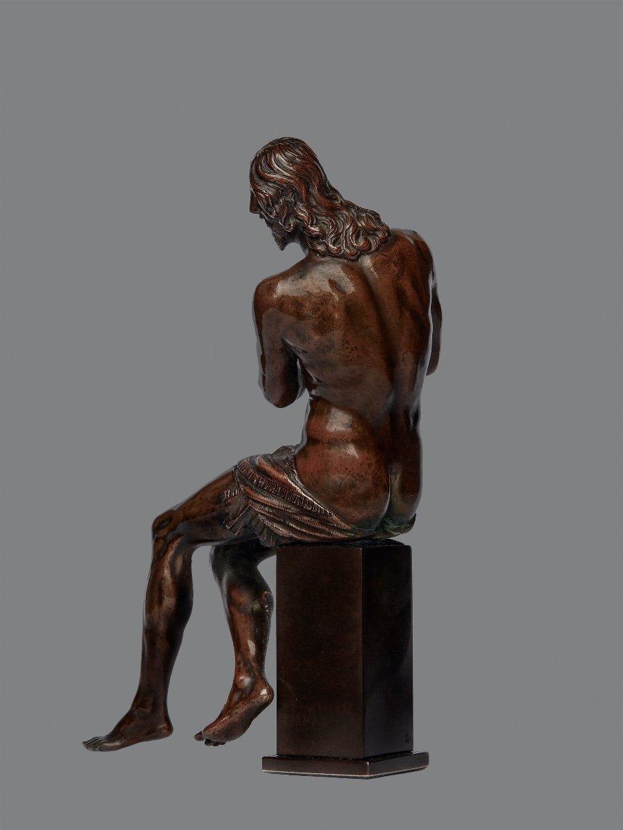 Guglielmo Della Porta (1515-1577) Christ With Ties, Bronze-photo-3