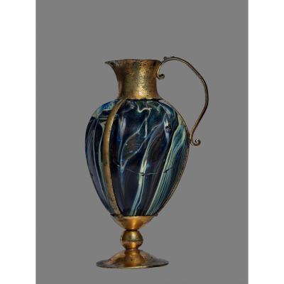 Burette Liturgique, verre fin du Ve IV Avant Jc Monture Du XVIe Siècle