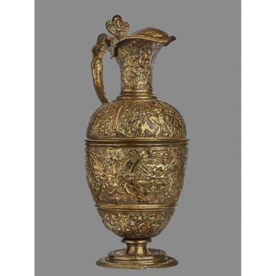 Aiguière en bronze doré, dite de Mars d'après François Briot (ca 1545-1616)