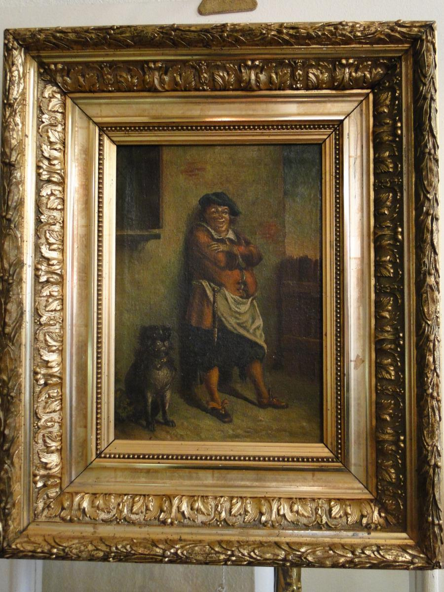 Innkeeper Flemish Painting Oil On Canvas Framework Eighteenth Dore
