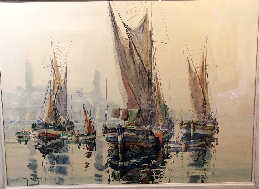 Watercolor Marine Georges Chappuis