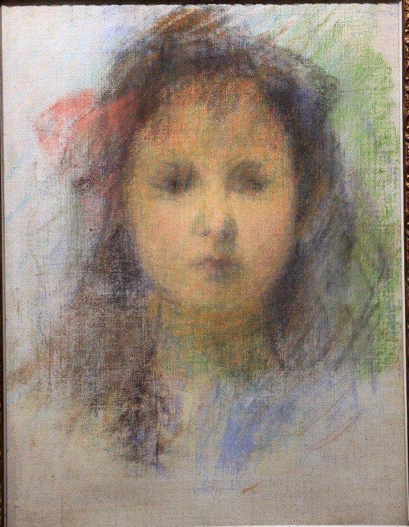 Impressionist Pastel, Portrait Of Girl