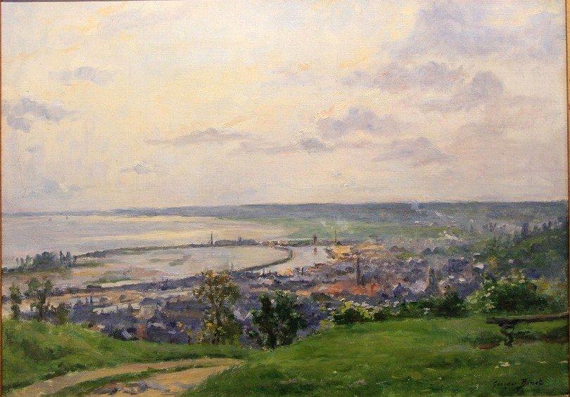 """George Binet """"view Of Honfleur 1907"""""""