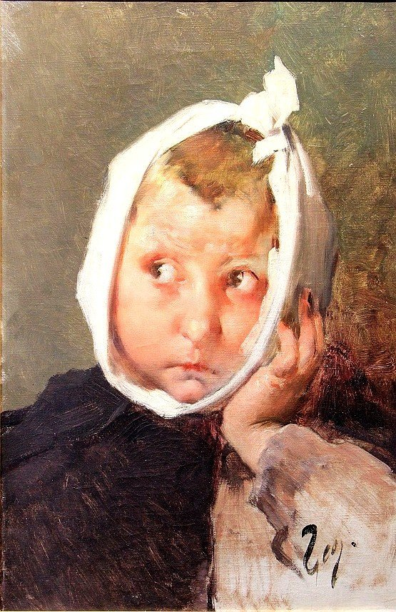 Oil On Canvas By Henri Jules Jean Geoffroy, Said Geo